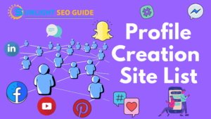 List for seo websites profile creation Top [100+]